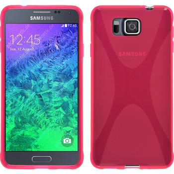 Silicone Case for Samsung Galaxy Alpha X-Style hot pink