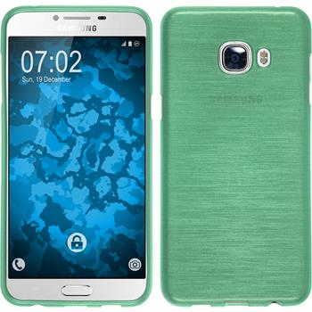 Silicone Case for Samsung Galaxy C5 brushed green