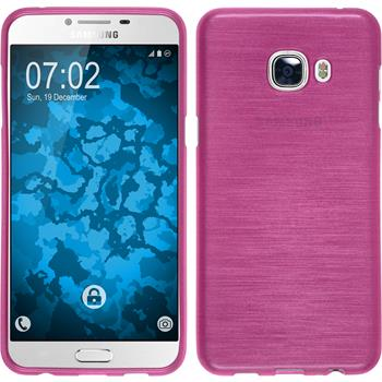 Silicone Case for Samsung Galaxy C5 brushed hot pink