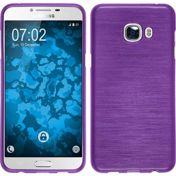Silicone Case for Samsung Galaxy C5 brushed purple
