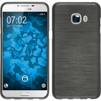 Silicone Case for Samsung Galaxy C5 brushed silver