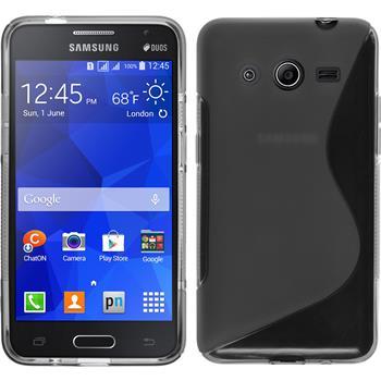 Silicone Case for Samsung Galaxy Core 2 S-Style gray