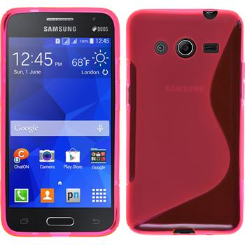 Silicone Case for Samsung Galaxy Core 2 S-Style hot pink