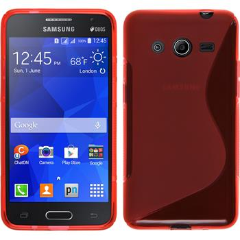 Silicone Case for Samsung Galaxy Core 2 S-Style red