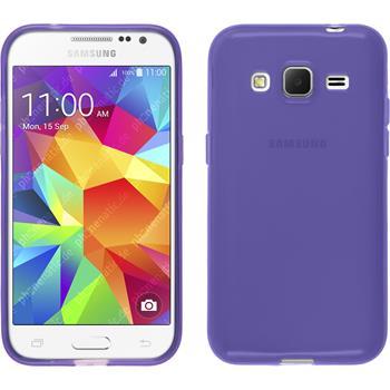 Silicone Case for Samsung Galaxy Core Prime transparent purple
