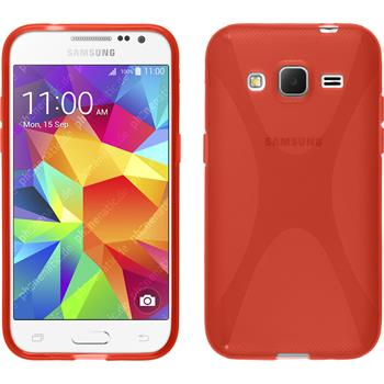 Silicone Case for Samsung Galaxy Core Prime X-Style red