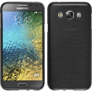 Silicone Case for Samsung Galaxy E5 brushed silver