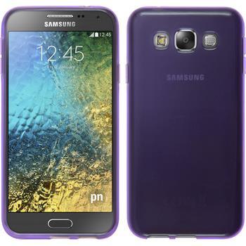 Silicone Case for Samsung Galaxy E5 transparent purple