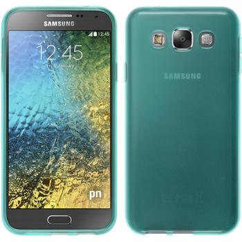 Silicone Case for Samsung Galaxy E5 transparent turquoise