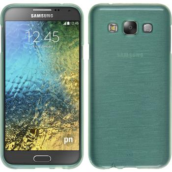 Silicone Case for Samsung Galaxy E7 brushed green