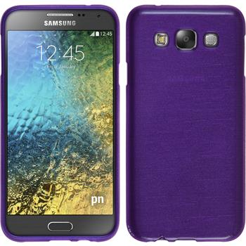Silicone Case for Samsung Galaxy E7 brushed purple