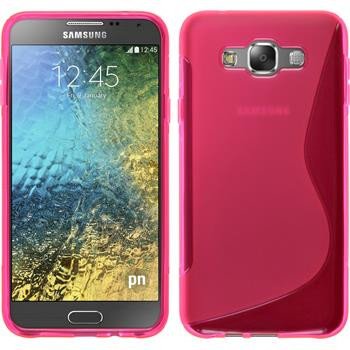 Silicone Case for Samsung Galaxy E7 S-Style hot pink