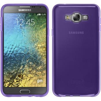 Silicone Case for Samsung Galaxy E7 transparent purple