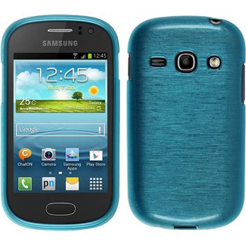 Silicone Case for Samsung Galaxy Fame brushed blue
