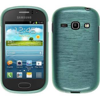 Silicone Case for Samsung Galaxy Fame brushed green
