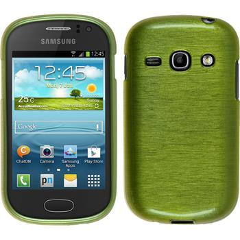 Silicone Case for Samsung Galaxy Fame brushed pastel green