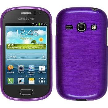 Silicone Case for Samsung Galaxy Fame brushed purple