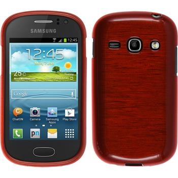 Silicone Case for Samsung Galaxy Fame brushed red
