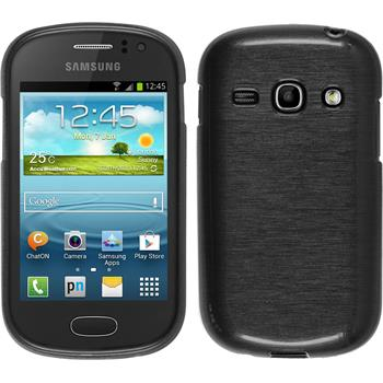Silicone Case for Samsung Galaxy Fame brushed silver