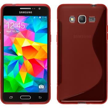 Silicone Case for Samsung Galaxy Grand Prime S-Style red