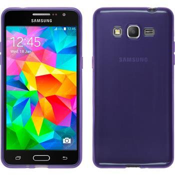 Silicone Case for Samsung Galaxy Grand Prime transparent purple