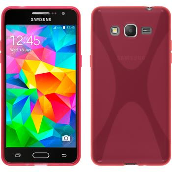 Silicone Case for Samsung Galaxy Grand Prime X-Style hot pink