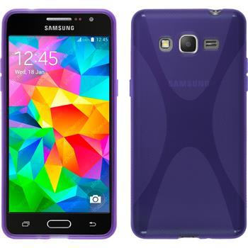 Silicone Case for Samsung Galaxy Grand Prime X-Style purple