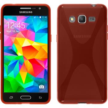 Silicone Case for Samsung Galaxy Grand Prime X-Style red