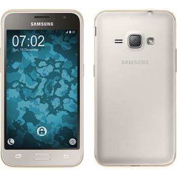 Silicone Case for Samsung Galaxy J1 (2016) J120 360° Fullbody gold