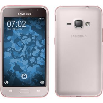Silicone Case for Samsung Galaxy J1 (2016) J120 360° Fullbody pink