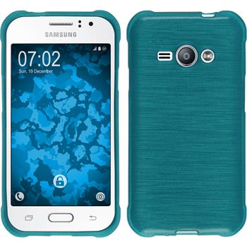 Silicone Case for Samsung Galaxy J1 Ace brushed blue