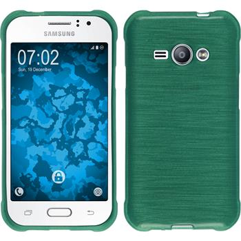 Silicone Case for Samsung Galaxy J1 Ace brushed green