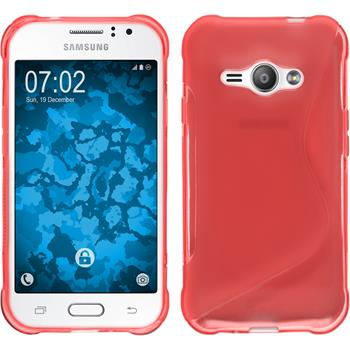 Silicone Case for Samsung Galaxy J1 Ace S-Style red