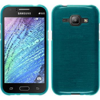 Silicone Case for Samsung Galaxy J1 brushed blue