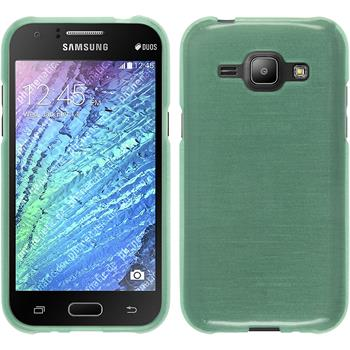 Silicone Case for Samsung Galaxy J1 brushed green