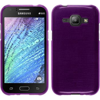 Silicone Case for Samsung Galaxy J1 brushed purple