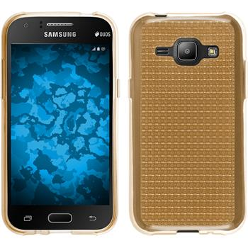Silicone Case for Samsung Galaxy J1 (J100) Iced gold