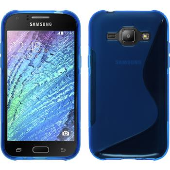 Silicone Case for Samsung Galaxy J1 S-Style blue
