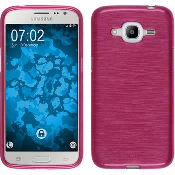 Silicone Case for Samsung Galaxy J2 (2016) brushed hot pink