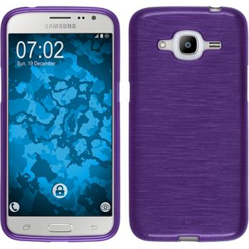 Silicone Case for Samsung Galaxy J2 (2016) brushed purple