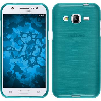 Silicone Case for Samsung Galaxy J2 brushed blue