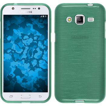 Silicone Case for Samsung Galaxy J2 brushed green