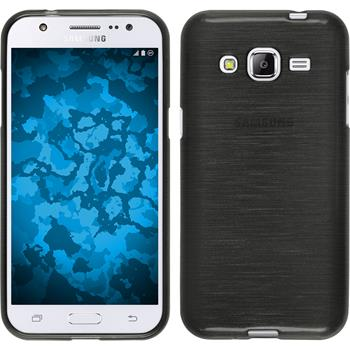 Silicone Case for Samsung Galaxy J2 brushed silver