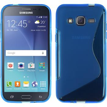 Silicone Case for Samsung Galaxy J2 S-Style blue