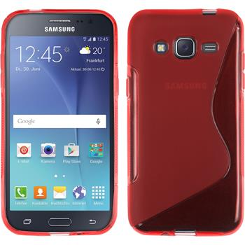 Silicone Case for Samsung Galaxy J2 S-Style red