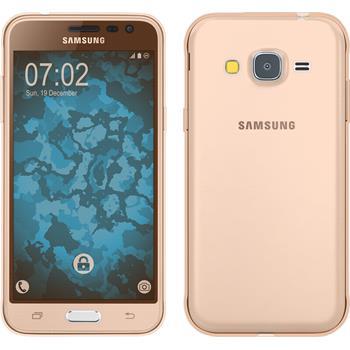Silicone Case for Samsung Galaxy J3 360° Fullbody gold