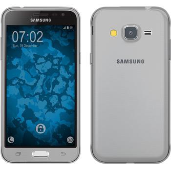 Silicone Case for Samsung Galaxy J3 360° Fullbody gray