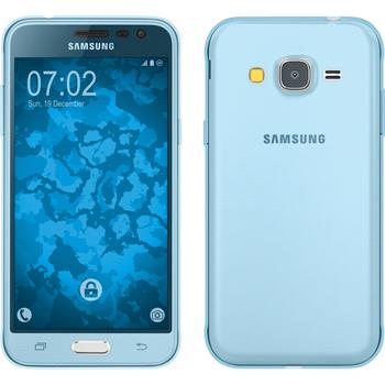 Silicone Case for Samsung Galaxy J3 360° Fullbody light blue