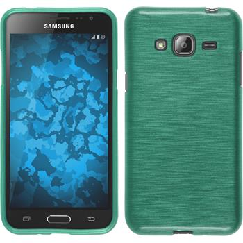 Silicone Case for Samsung Galaxy J3 brushed blue