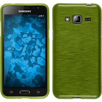 Silicone Case for Samsung Galaxy J3 brushed pastel green